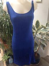 PALME robe femme debardeur longue viscose bleu Taille 38