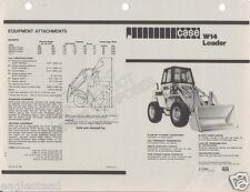 Equipment Brochure - Case - W14 - Wheel Loader - c1970s (E1185)