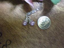 Pearl Cluster Pink Dust Plug Cell Phone Charm