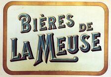 """""""BIERES de LA MEUSE"""" Affiche d'intérieur originale entoilée début 1900 40x54cm"""