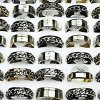 Hot sell Wholesale Jewelry Lots 10pcs Top Stainless steel Mix fashion Rings New