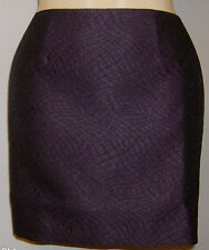 Tahari Skirt Size 6 New with Tags Python Jacquard Exposed Side Zipper Purple
