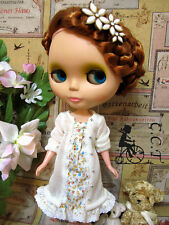 C.C.T Blythe Dal doll outfit yellow floral long sleeve dress c-489