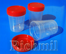 10x 100ml / 120ml / 3oz Plastic Specimen Sample Jar / Craft Container/ Cup w/Lid