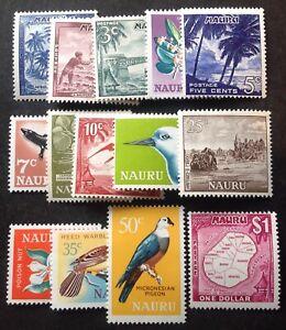 Nauru 1966 Full Set Of 14 stamps mint hinged