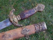 Vintage Antique Spain Spanish Sword Shark Scabbard Brass Fittings