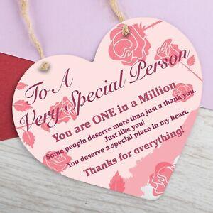 Special Thank You Gift Heart Hanging Sign Teacher Friend Gifts Keepsake