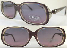 Stylish & Vintage MISSONI Ladies Sunglasses, Lilac/Brown/Grey/Transparent -Rare