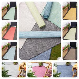 Indoor Outdoor Flatweave Rugs for Garden Patio Area Plastic Mat Kitchen Runner