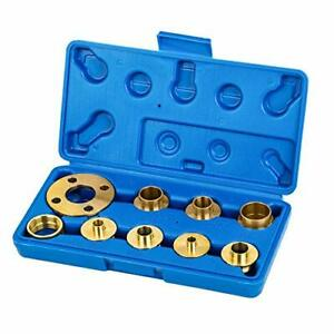 Brass Router Guide Bush Bushing Set with Case - 10 Pieces