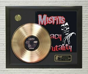 Misfits Legacy Of Brutality Framed Legends Of Music Gold LP Record Display