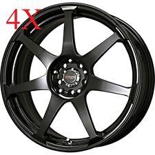 Drag Wheels DR-33 17x7.5 5x100 5x114 Black Rims For Civic Rsx Tsx TL Accord