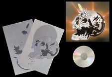 Aerografía galerías de símbolos/Stencil/step by step 656 Death shot Skull