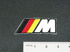 BMW M LOGO BADGE (M-POWER) DEUTSCH COLOR CAR BIKER RACING PATCH - MADE IN USA