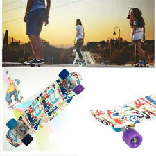 Skateboard Komplettboard mit 68x20cm Holzboard Funboard Graffiti/Rolle Auswahl