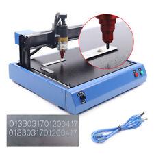 Electric Plastic Nameplate Marking Machine 300x200mm Metal Engraver Machine 110v