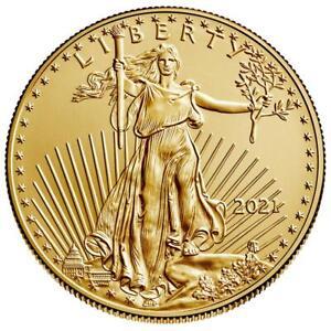 USA - 5 Dollar 2021 - American Gold Eagle - Anlagemünze - 1/10 Oz Gold ST