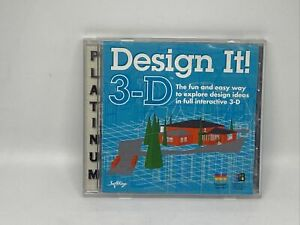 Design It 3D for PC & Mac 3-D Building Design Software Vintage SoftKey