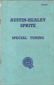AUSTIN HEALEY FROGEYE SPRITE ORIG.1958 SPECIAL TUNING & RACE PREPARATION BOOKLET