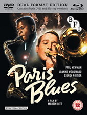 PARIS BLUES BLU RAY AND DVD COMBI BRAND NEW SEALED