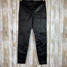 $1150 Kiki De Montparnasse Brown Croco Leather Legging Moto High Rise L Large