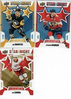 19/20 LOT OF 3 UD CREDENTIALS STARS OF THE NIGHT ZADINA RC BARKOV GUENTZEL