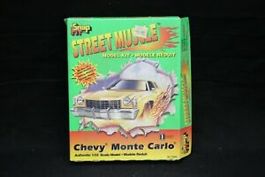 Lindberg CHEVY MONTE CARLO Snap Fit 1:32 Scale Vintage Model Kit Open Box NICE