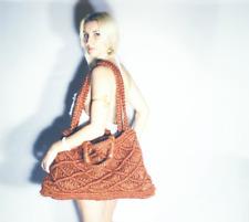 Macrame, Market bag, shoulder strap or carry as a hand bag.