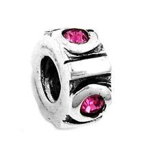 Kettenanhänger Anhänger Perle bead pink aus Silber Abmessung  10 x 5 mm