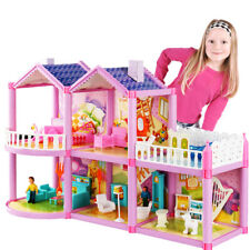 Kids Girl Diy Dollhouse With Miniature Furniture Fun Play Set Toy Christmas Gift