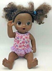 2017 My Baby Alive African American Black Doll Girl Hair Hasbro