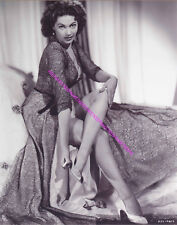 """ACTRESS YVONNE DE CARLO """"LILY MUNSTER"""" REMOVING HER SHOE LEGS NYLONS PHOTO A-YD1"""