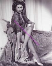 ACTRESS YVONNE DE CARLO SEXY LEGS UPSKIRT TAKING OFF HER SHOE LEGGY PHOTO A-YD1