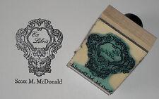 Custom Vintage Lion Head Frame Ex Libris bookplate rubber stamp Amazing Arts