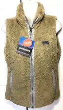 Patagonia Los Lobos Fleece Reversible Vest Womens Size Small New Khaki
