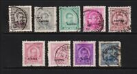 Azores - 9 early overprints, cat. $ 68.00