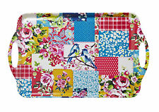 Cooksmart Oriental Patchwork Large Tray 48.5x29.5cm Plastic Serving Dining New