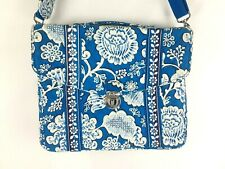 Vera Bradley Blue Lagoon Attache Tech Computer Brief Case Laptop Bag CrossBody