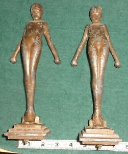 For Frankart figural lamp two standing female nude figures for parts NO MARKINGS