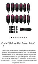Pro Blo Curl Me Deluxe Set Of 12 Barrelled For Medium/ Long Hair