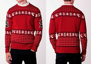 NEW BRIONI 100% WOOL HOLIDAY CHRISTMAS Sweater Pullover EUR-50/M EUR-54/L