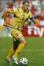 Andriy Shevchenko Signed 12X8 Photo AC Milan Ukraine AFTAL COA (1651)