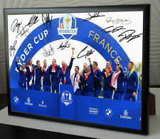 c2603431477b8d RYDER CUP EUROPE WINNING TEAM 2018 Golf Framed Canvas Tribute Print Signed