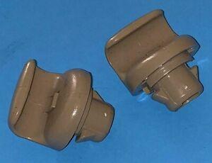 2003-2006 INFINITI G35 Genuine Sun Visor Clip Retainer Holder (PAIR) Tan