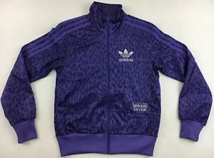 Adidas Originals Chile 62 Leopard Leo Track Top wet look camouflage jacket 36