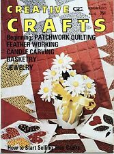 Creative Crafts - February 1975 - Patchwork Quilting Candles Basketry Jewelry