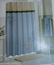 "CROFT&BARROW EMBROIDERED FABRIC SHOWER CURTAIN SIZE 70""X 72"" NEW $49.99"