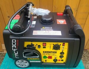 NEW - NO BOX - Champion 3,400-W Portable Dual Fuel Gas Inverter Generator