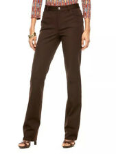 Women's Chaps Stretchy Twill Mid-Rise Straight-Leg Pants, Rider Brown Size 6