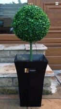 1x Artificial Topiary Ball with 50 Lights and black planter
